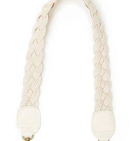 Clare V Cream Braided Rope Shoulder Strap