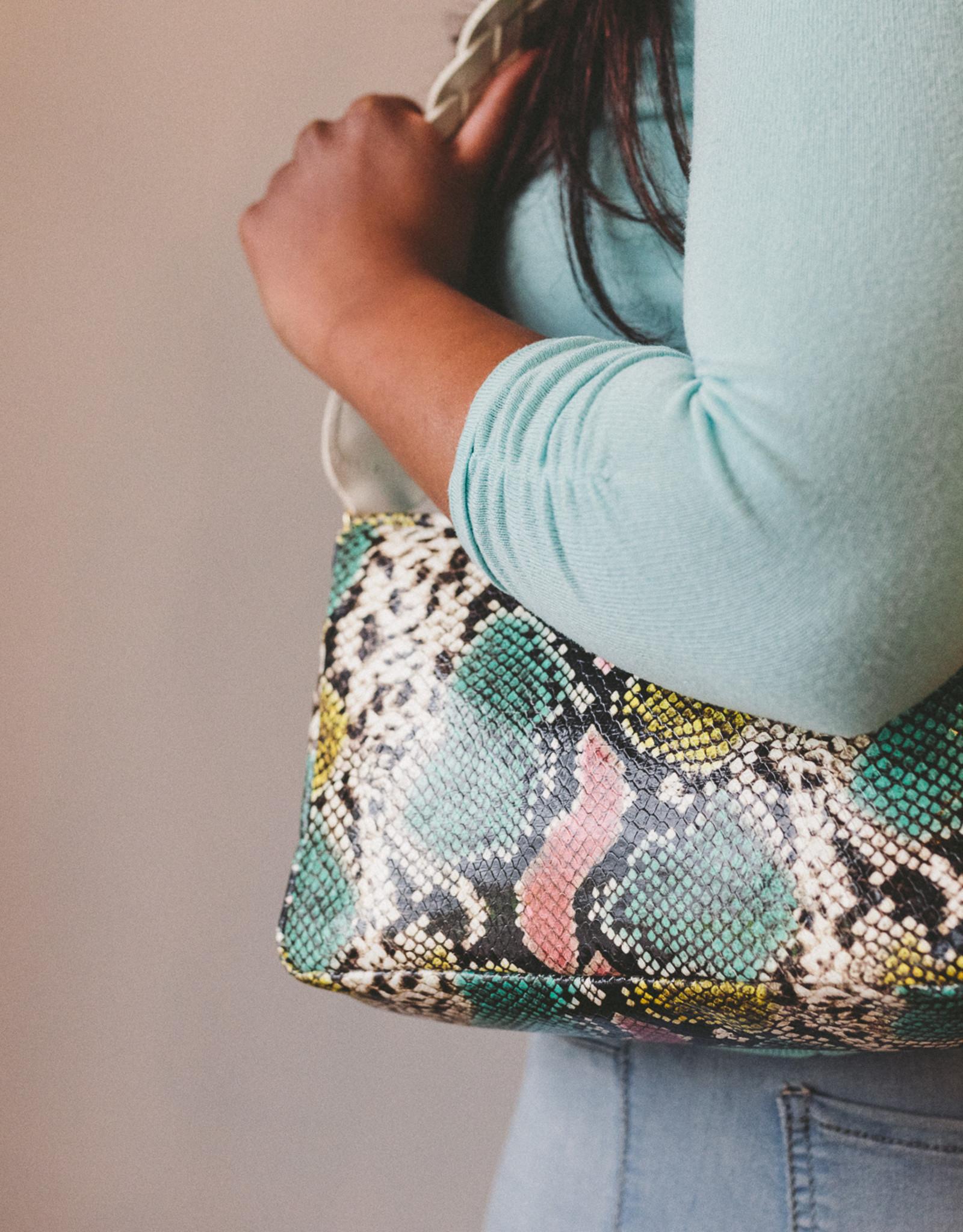 Clare V Marisol w/Pocket Pastel Snake Tie Dye