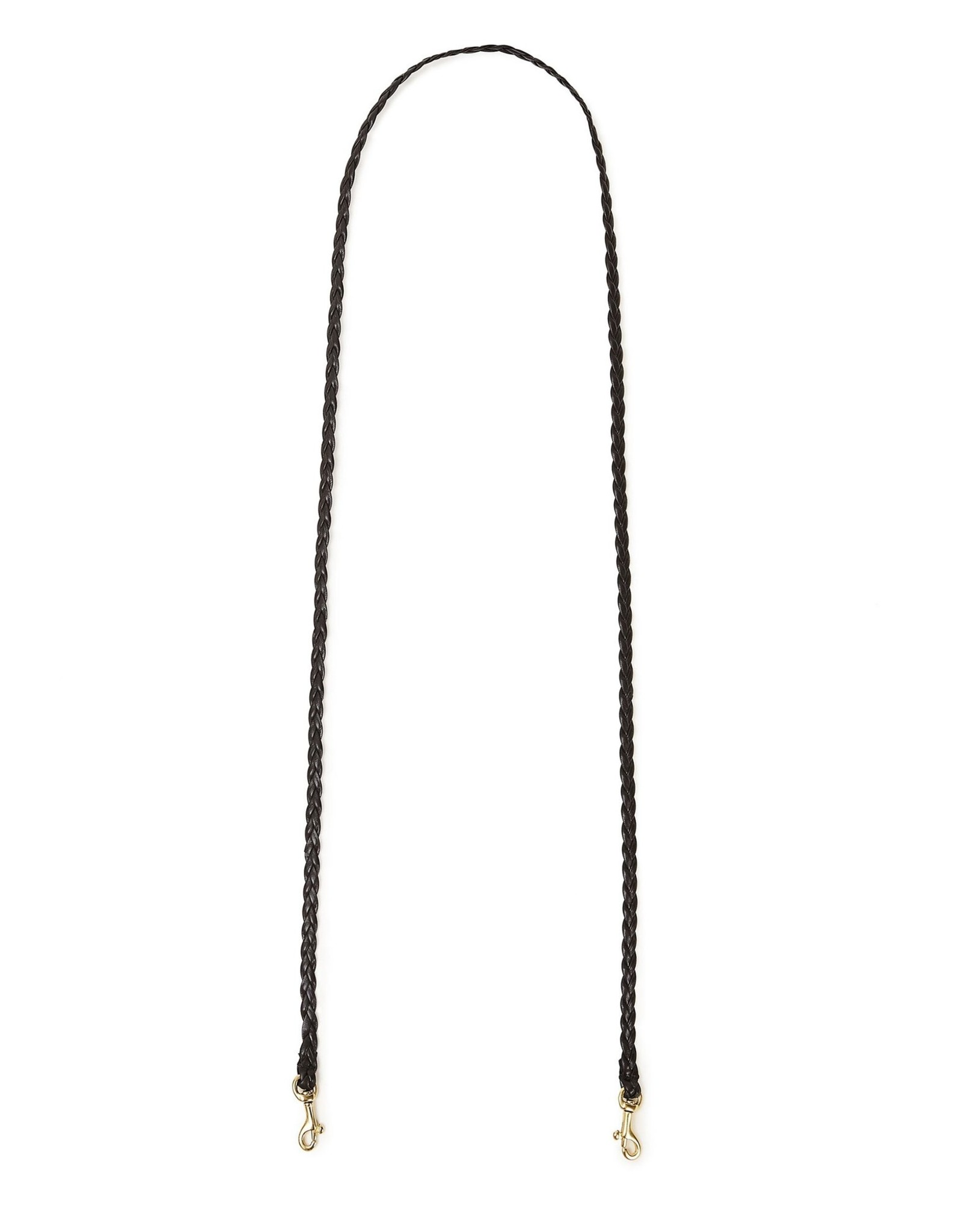 Clare V Mini Braid Black Crossbody Strap