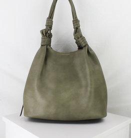 Tri-division Shoulder Bag