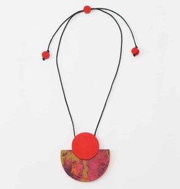 SYLCA Red Mia Pendant Necklace