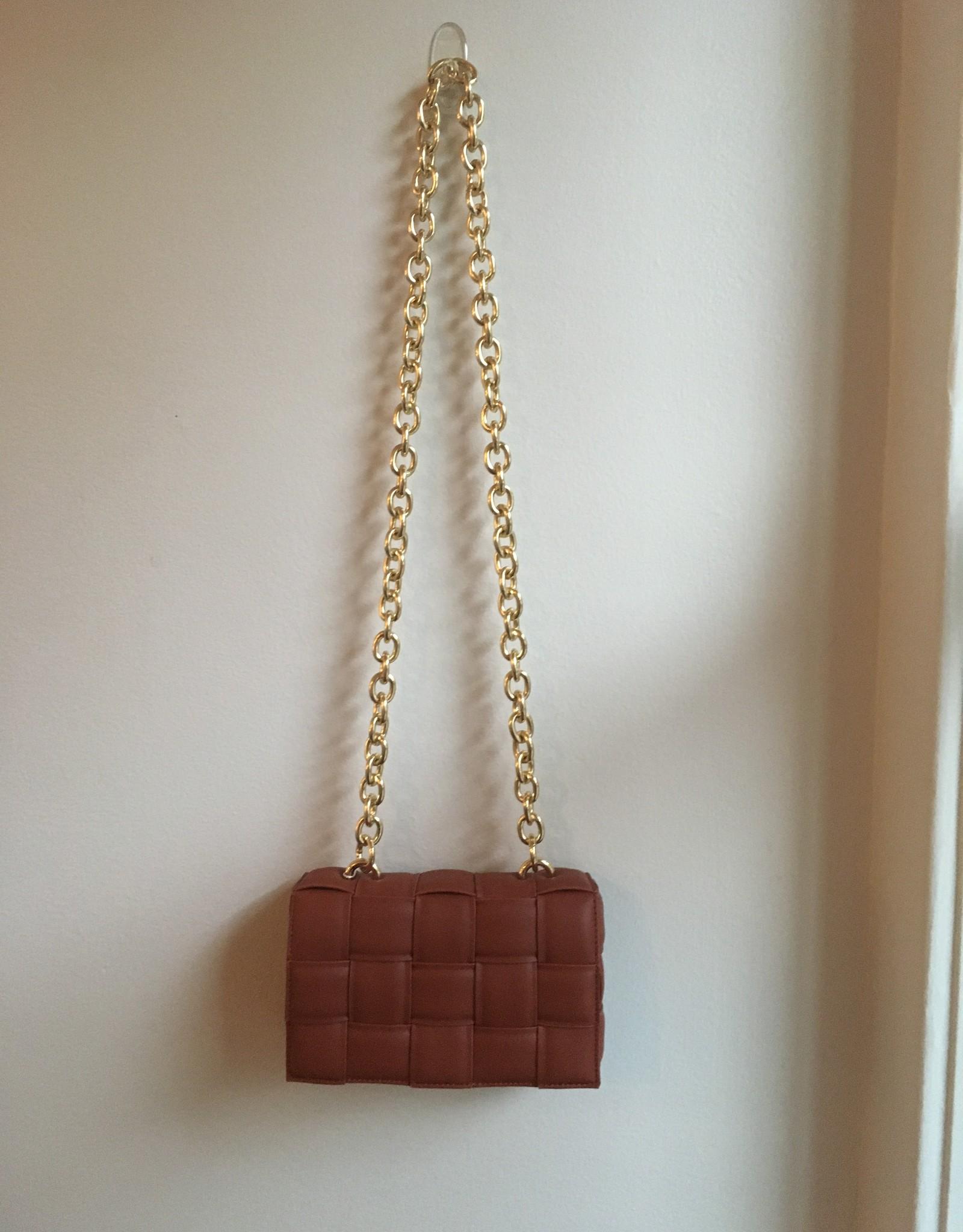 Melie Bianco Anya Shoulder Bag Rust