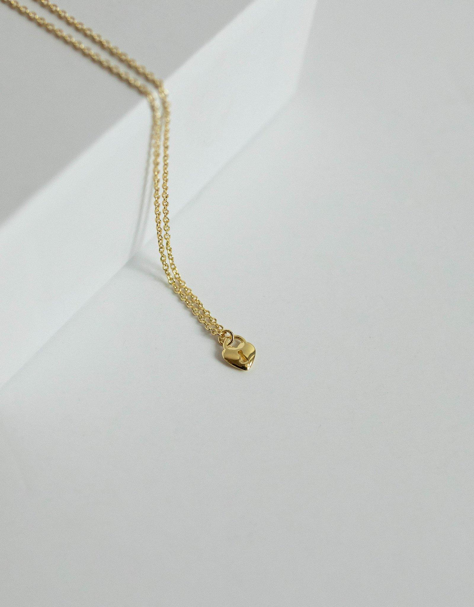 Gorjana Heart Padlock Charm Necklace