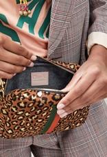 Clare V Midi Sac Cognac Metal Cat w/Nappa Desert Inlay Stripes