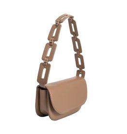 Melie Bianco Inez Taupe Shoulder Bag