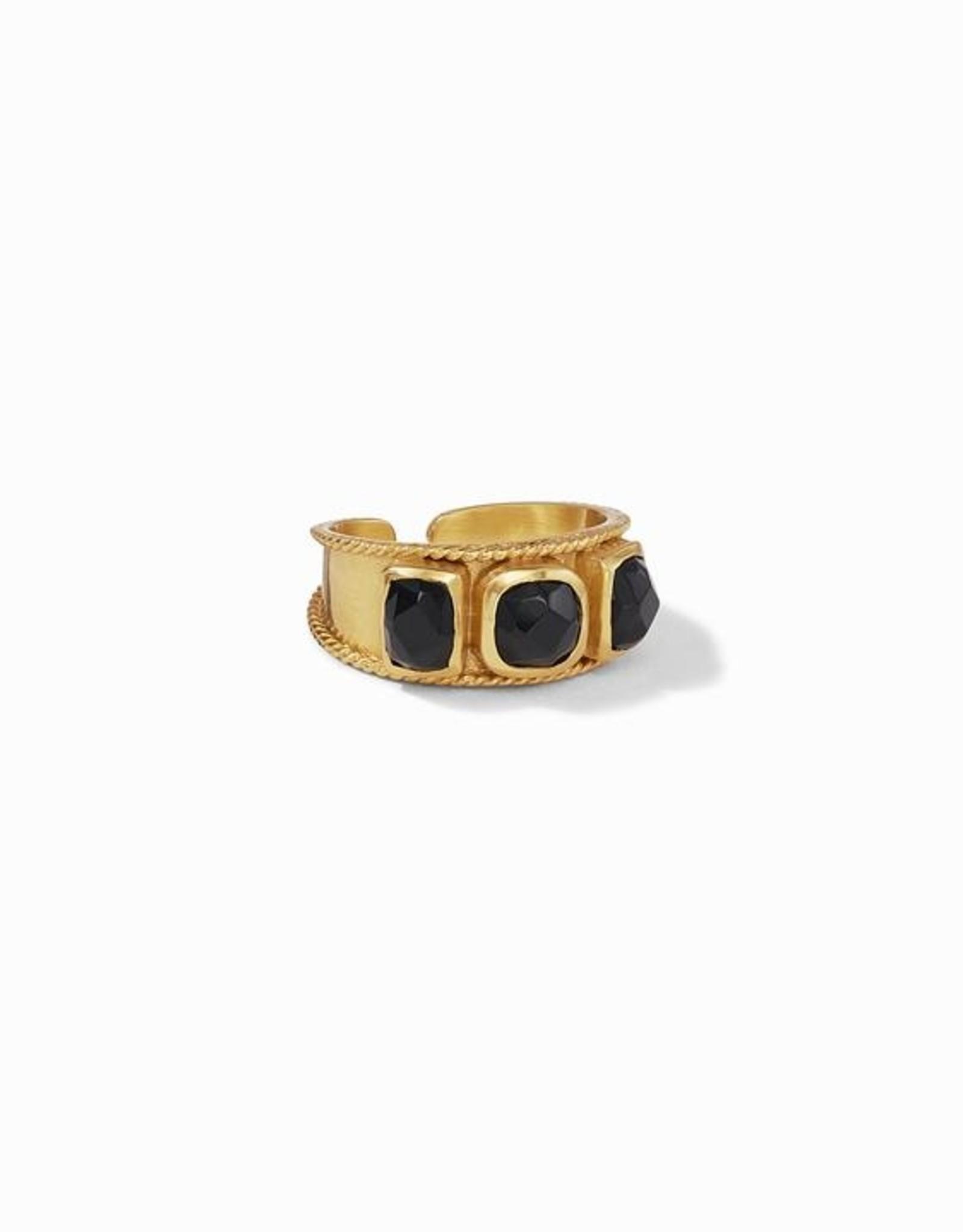 Julie Vos Savoy Ring Obsidian Black