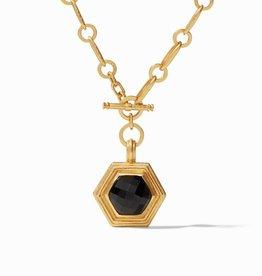 Julie Vos Palladio Statement Neck Obsidian Black