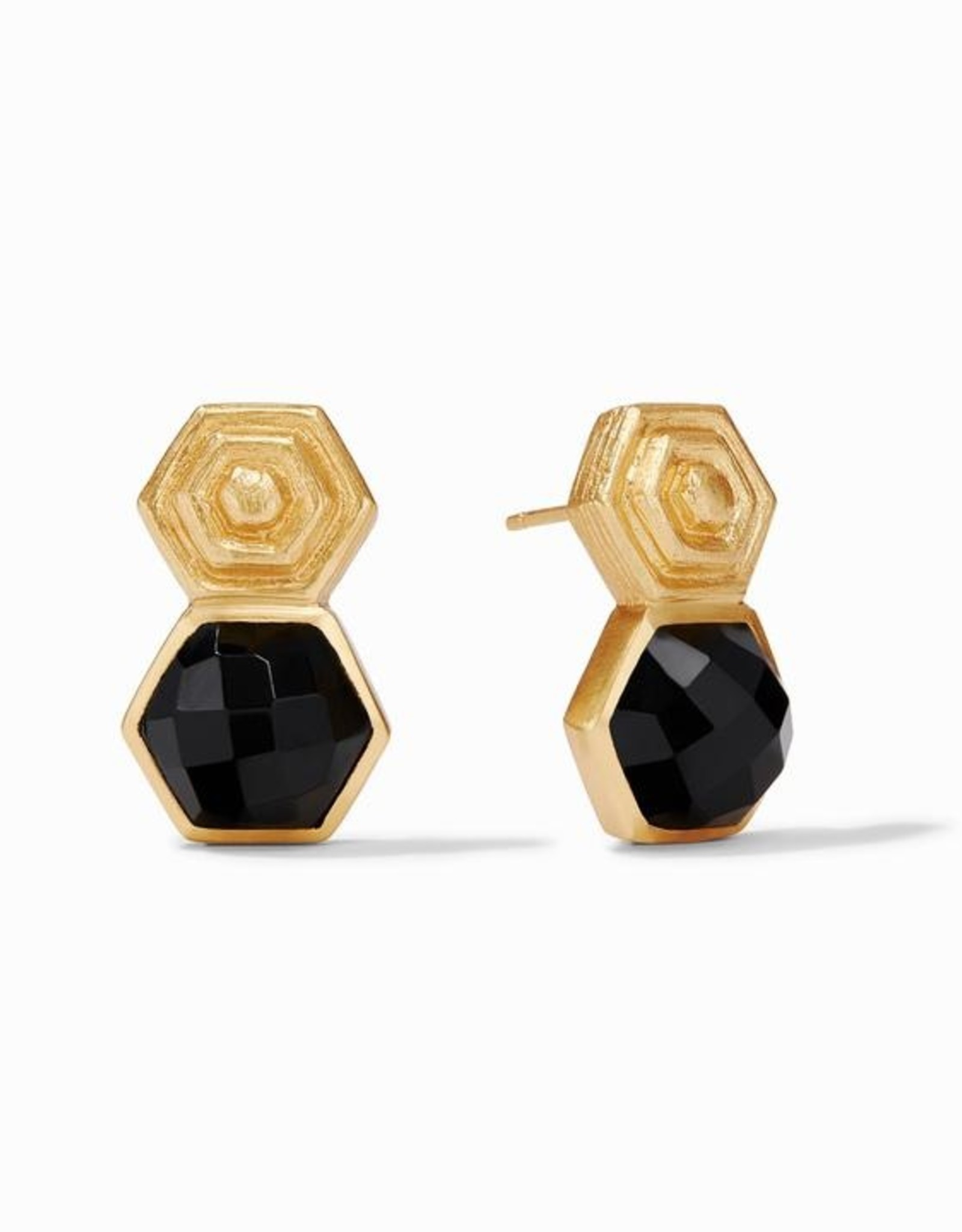 Julie Vos Palladio Earring Gold Black