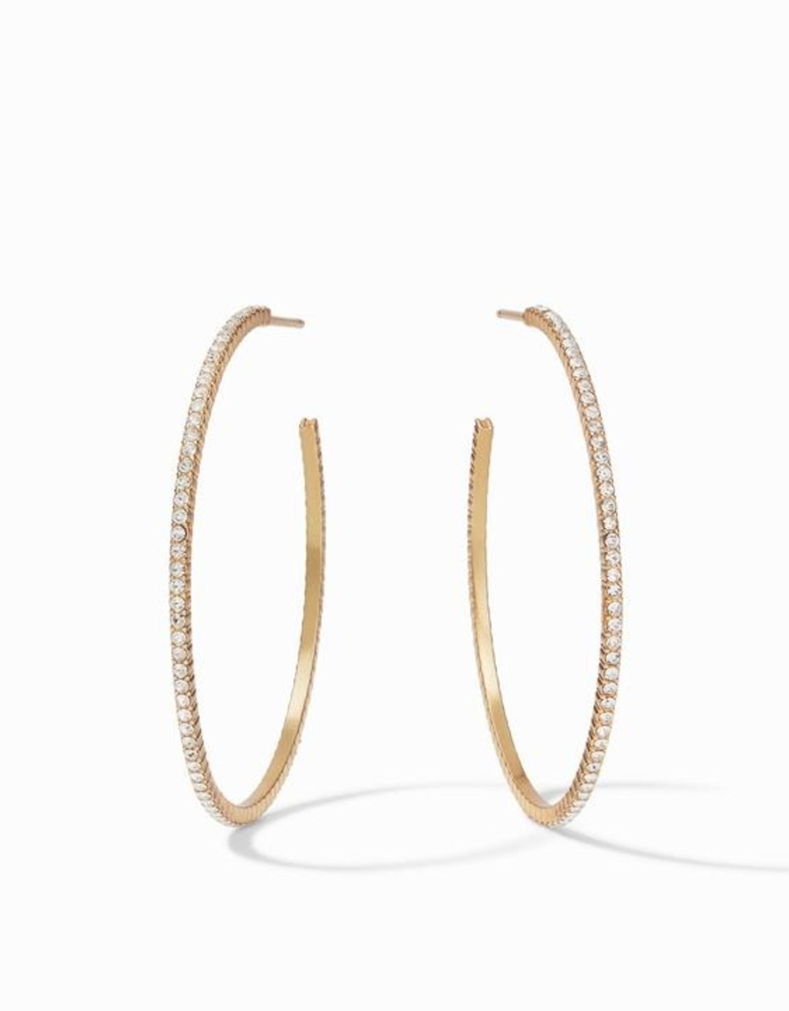 Julie Vos Windsor Hoop Gold Crystal Large