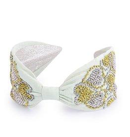 Namrata Joshipura Mint Green w/Heart Beading Headband