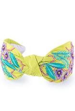 Namrata Joshipura Lime w/Purple Embroidered Flowers Headband