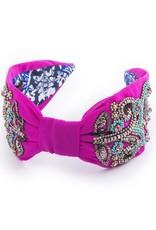 Namrata Joshipura Hot Pink w/Turquoise Beading Headband