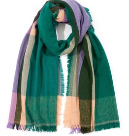 Echo Weekend Plaid Blanket Wrap Emerald