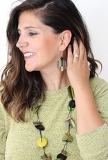 SYLCA Olive Sienna Dangle Earrings