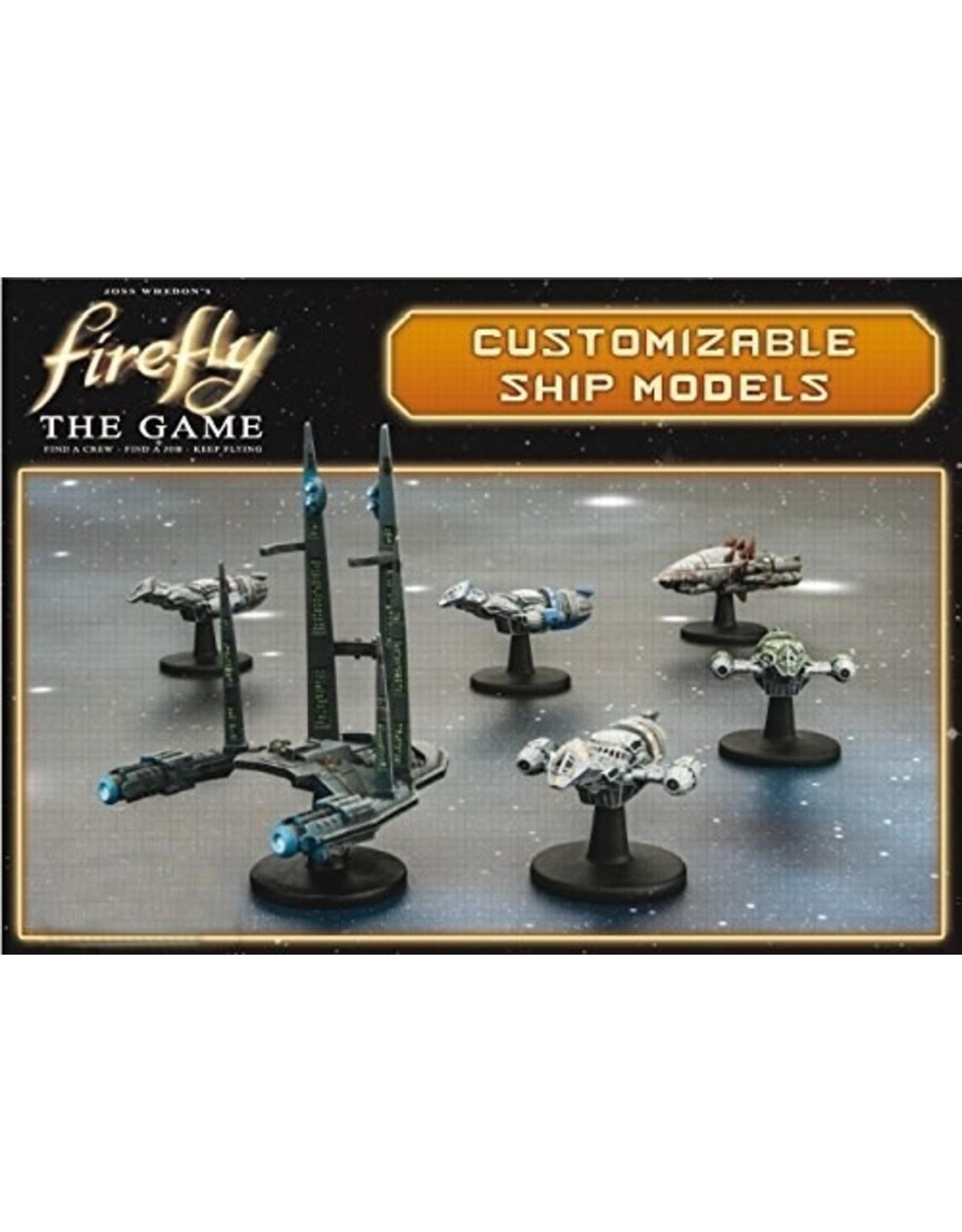 Gale Force 9 Firefly: The Game - Ship Set (Firefly, Bonnie Mae, Bonanza, Alliance Cruiser, Reaver Cutter)