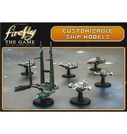 Gale Force 9 Firefly: The Game - Ship Set (Firefly, Bonnie Mae, Bonanza, Alliance Cruiser, Reaver Cutter)