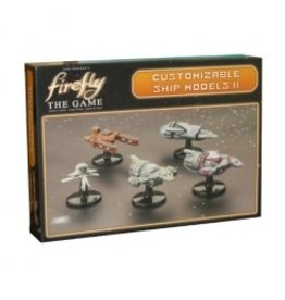 Gale Force 9 Firefly: The Game - Ship Set II (S.S. Walden, Jubal Early's Interceptor, Series IV Firefly ships x2, Operative's Corvette)