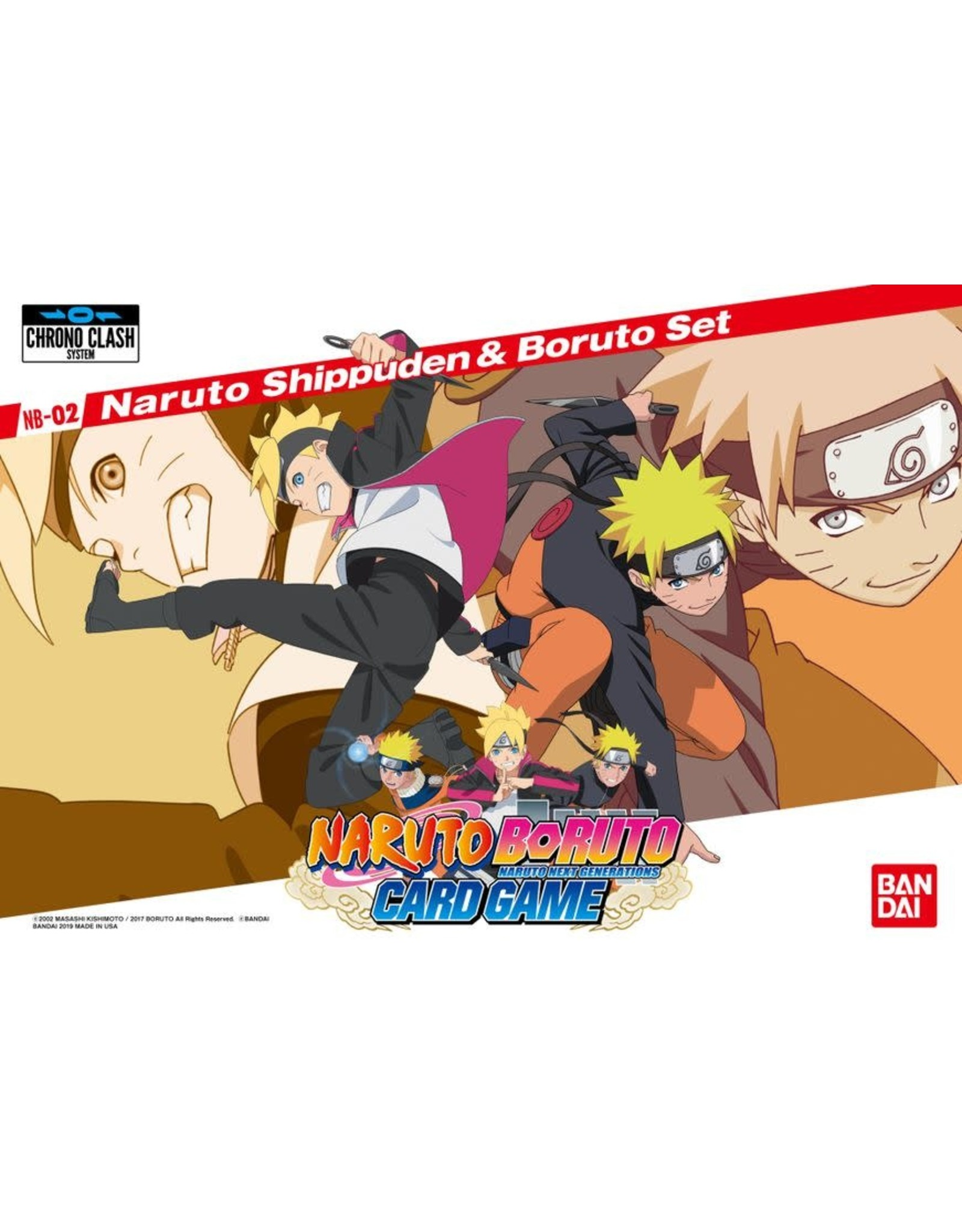 Bandai Naruto Boruto 2-Player Card Game: Naruto Shippuden & Boruto Set