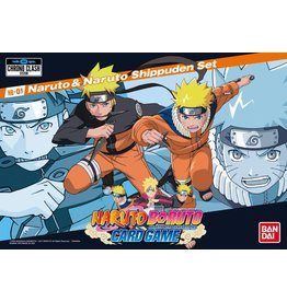 Bandai Naruto Boruto 2-Player Card Game: Naruto & Naruto Shippuden Set