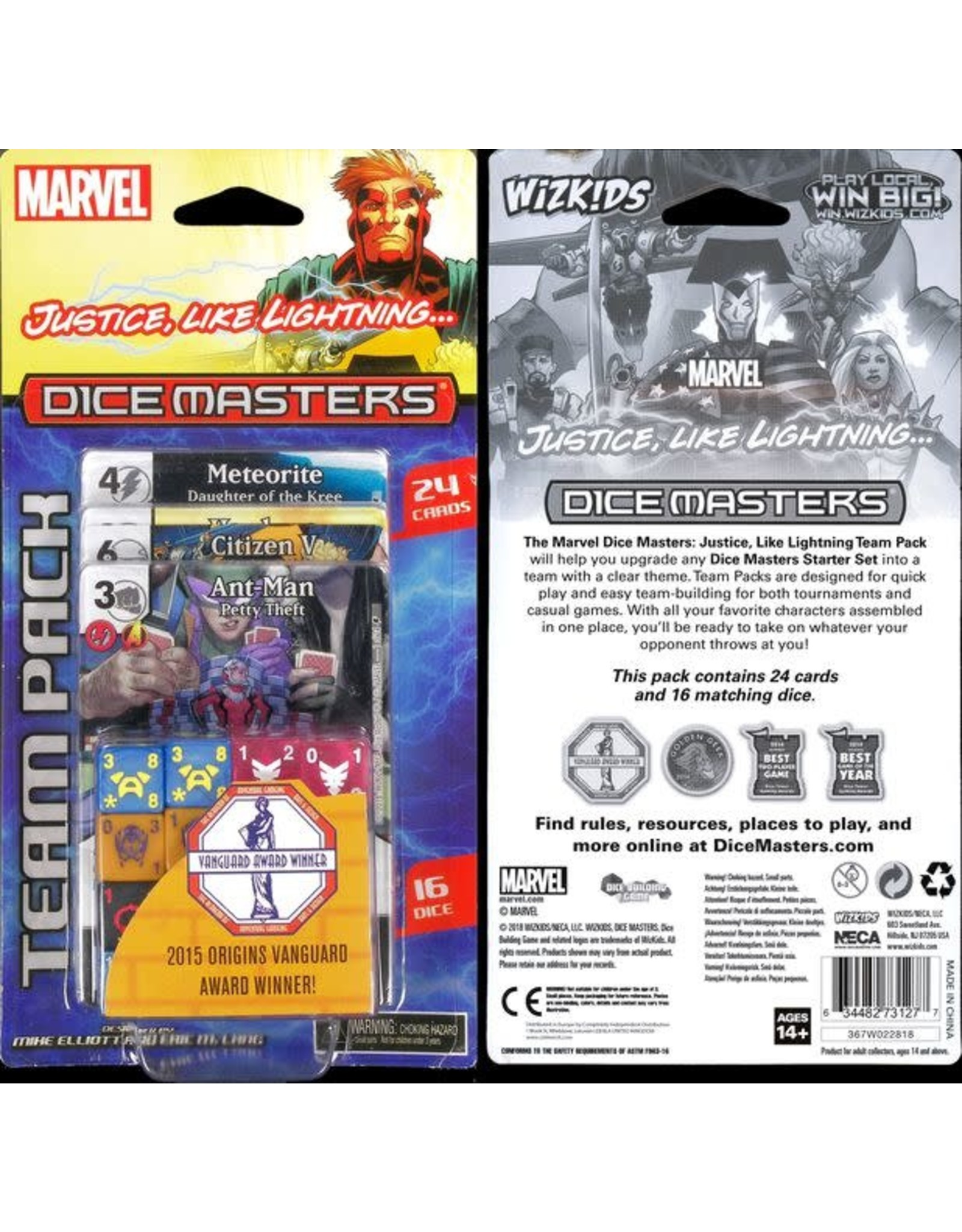 WizKids Marvel Dice Masters: Justice, Like Lightning Team Pack