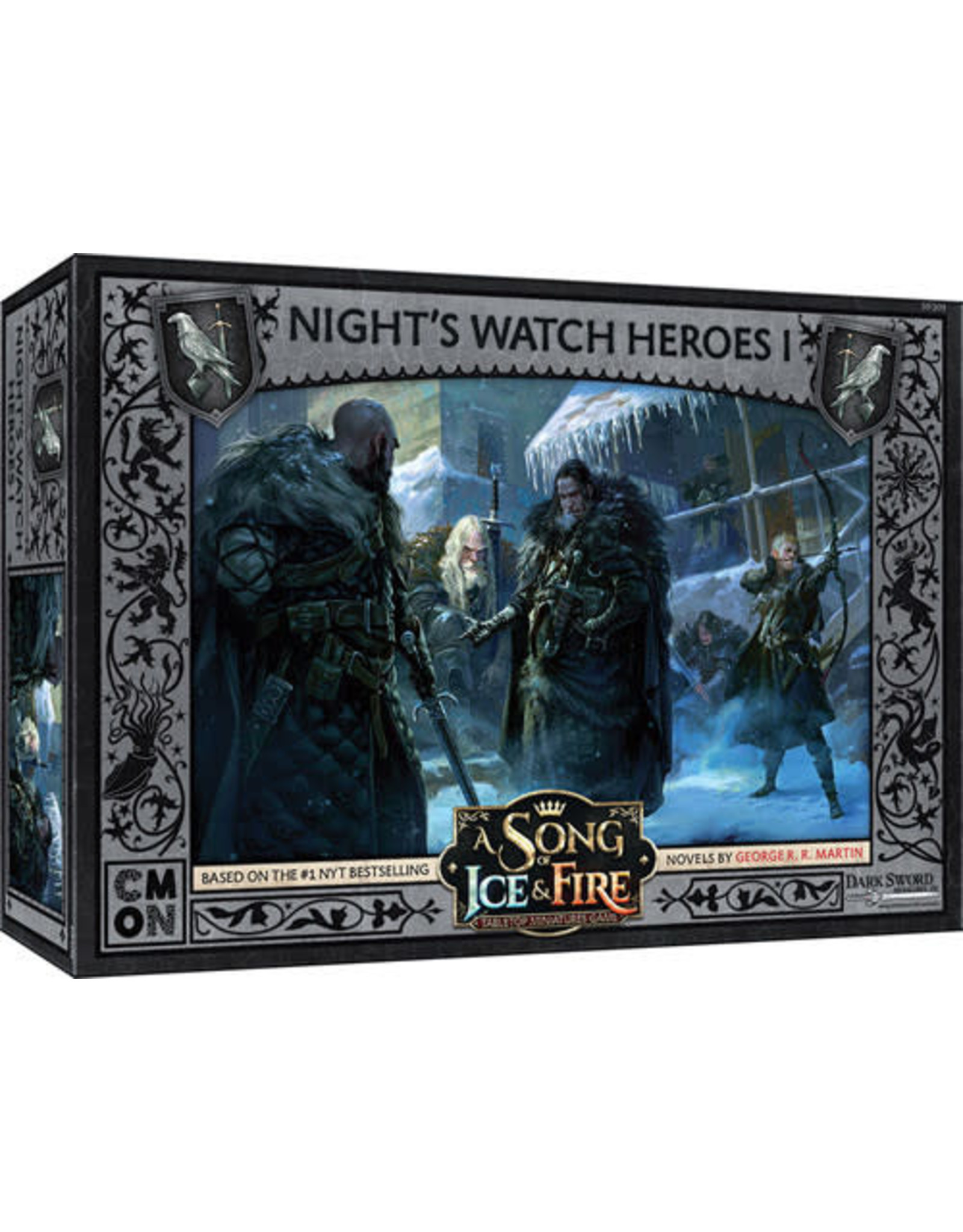 CMON A Song of Ice & Fire: Tabletop Miniatures Game: Night's Watch Heroes Box 1