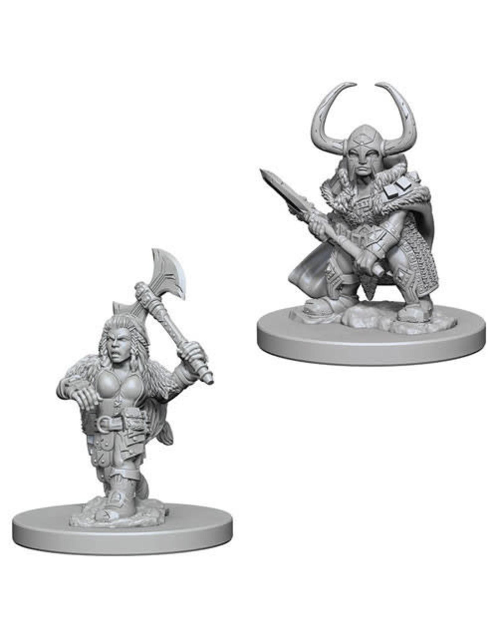 WizKids Dungeons & Dragons Nolzur`s Marvelous Unpainted Miniatures: W4 Dwarf Female Barbarian