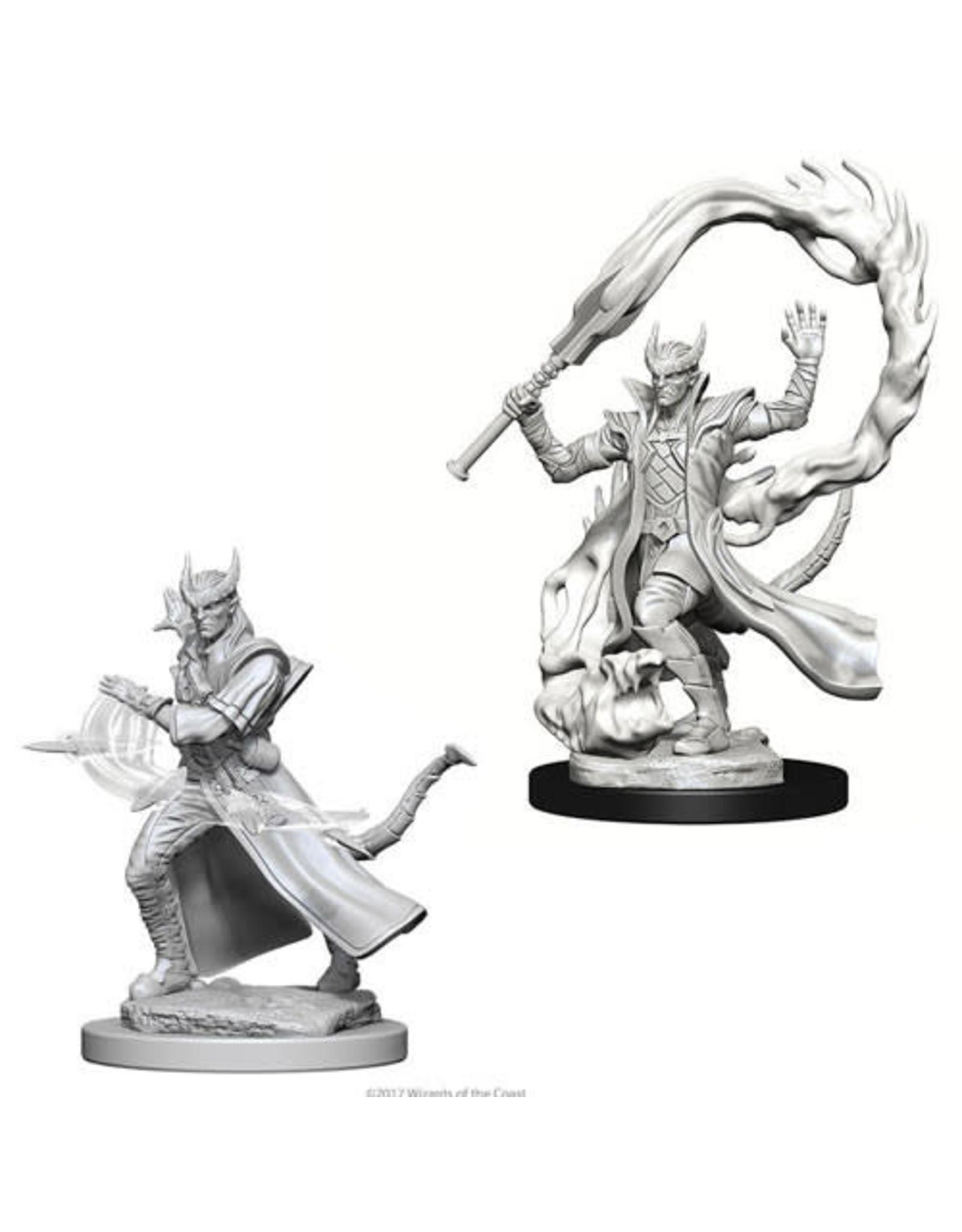 WizKids Dungeons & Dragons Nolzur`s Marvelous Unpainted Miniatures: W4 Tiefling Male Sorcerer