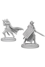 WizKids Pathfinder Deep Cuts Unpainted Miniatures: W2 Elf Male Paladin