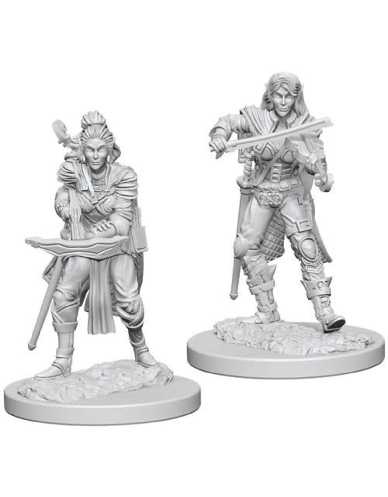 WizKids Pathfinder Deep Cuts Unpainted Miniatures: W4 Elf Female Bard