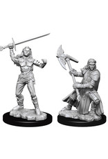 WizKids Dungeons & Dragons Nolzur`s Marvelous Unpainted Miniatures: W7 Half-Orc Female Fighter