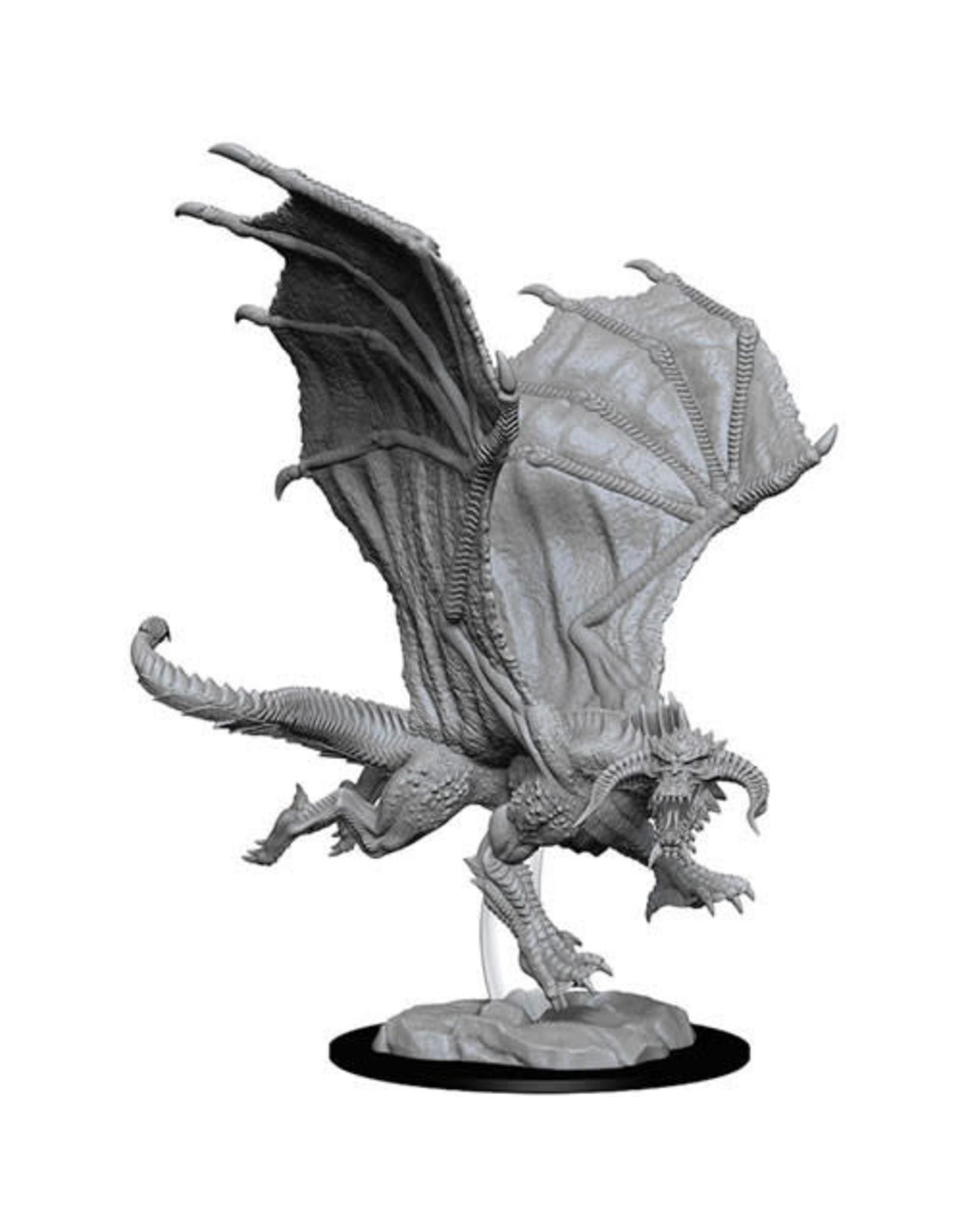 WizKids Dungeons & Dragons Nolzur`s Marvelous Unpainted Miniatures: W8 Young Black Dragon