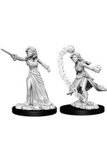 WizKids Pathfinder Deep Cuts Unpainted Miniatures: W6 Female Human Wizard