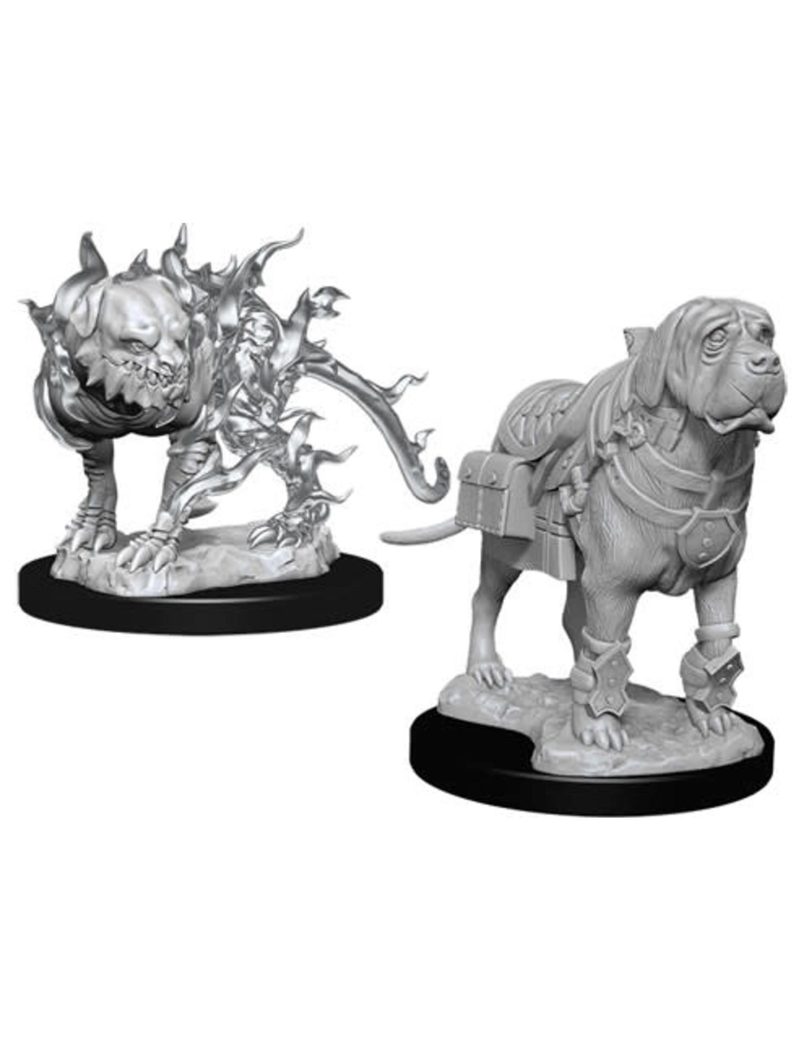 WizKids Dungeons & Dragons Nolzur`s Marvelous Unpainted Miniatures: W11 Mastif & Shadow Mastif