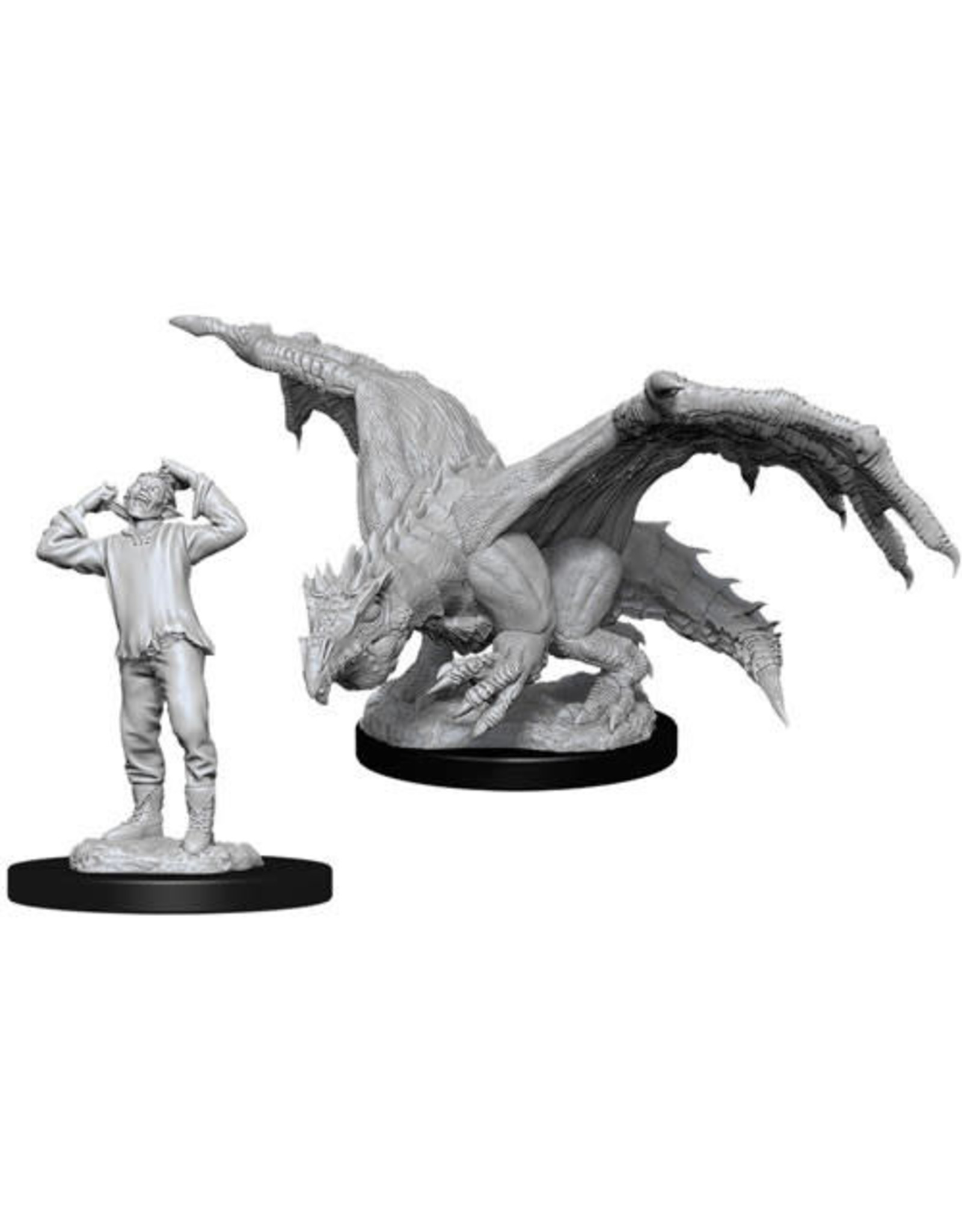 WizKids Dungeons & Dragons Nolzur`s Marvelous Unpainted Miniatures: W11 Green Dragon Wyrmling & Afflicted Elf