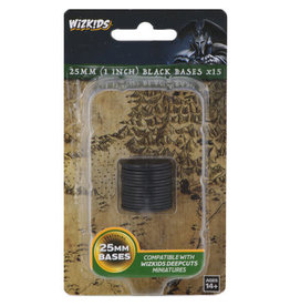 WizKids WizKids Deep Cuts Unpainted Miniatures: 25mm Round Base (15) Black