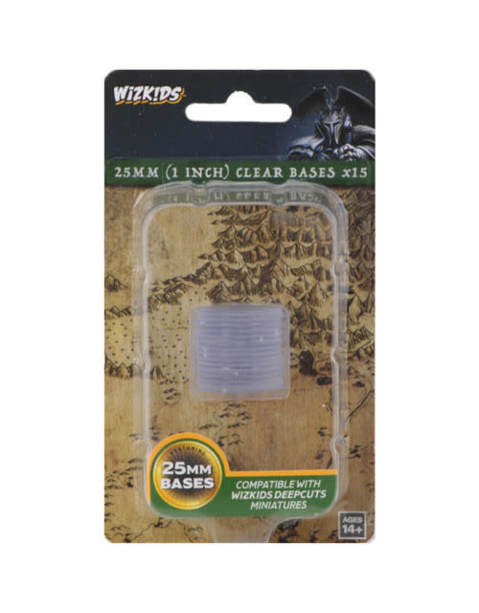 WizKids WizKids Deep Cuts Unpainted Miniatures: 25mm Round Base (15) Clear
