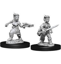 WizKids Pathfinder Deep Cuts Unpainted Miniatures: W8 Halfling Female Rogue