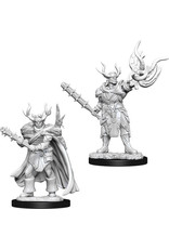 WizKids Pathfinder Deep Cuts Unpainted Miniatures: W10 Male Half-Orc Druid