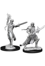 WizKids Pathfinder Deep Cuts Unpainted Miniatures: W11 Male Elf Magus (Magic User)