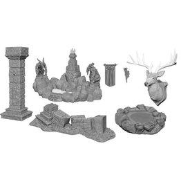 WizKids WizKids Deep Cuts Unpainted Miniatures: W11 Pools & Pillars