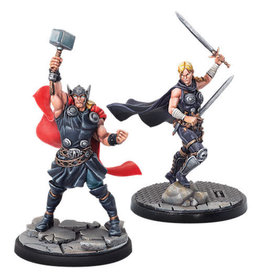 Atomic Mass Games Marvel: Crisis Protocol - Thor and Valkyrie Character Pack