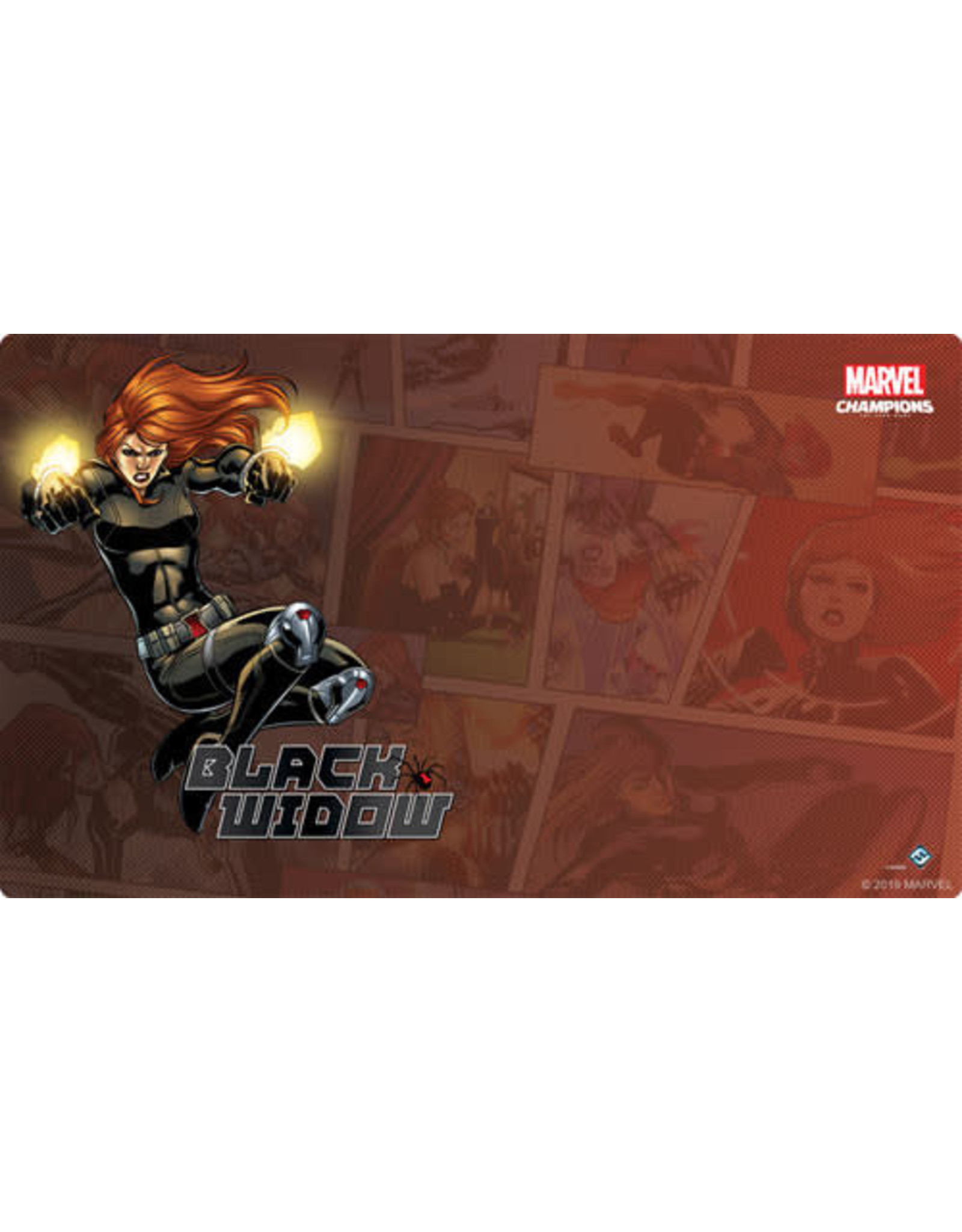 Fantasy Flight Games Marvel Champions LCG: Black Widow Game Mat