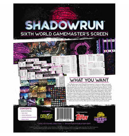 Catalyst Game Labs Shadowrun RPG: 6th Edition Gamemaster Screen