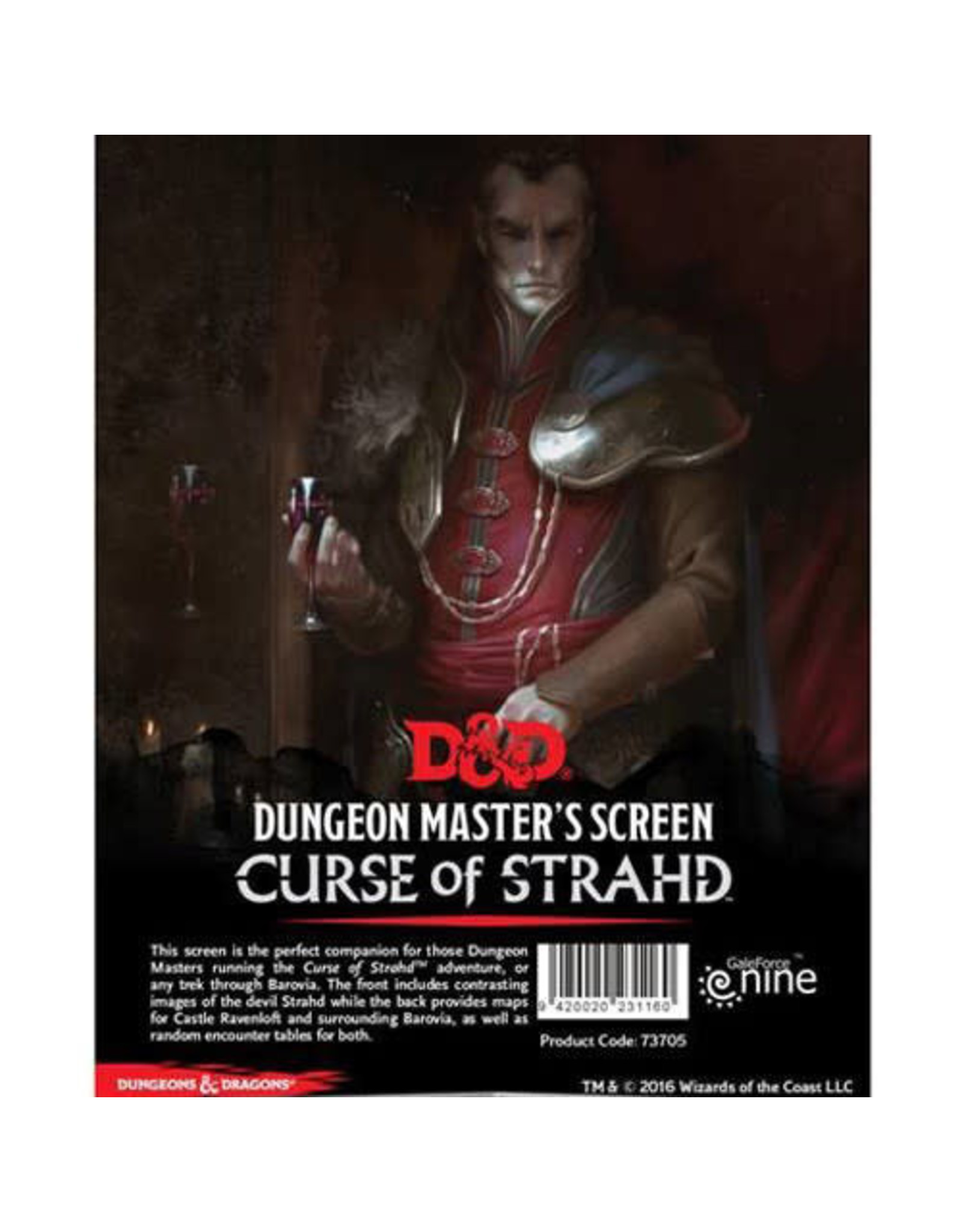 Wizards of the Coast Dungeons and Dragons RPG: Curse of Strahd DM Screen