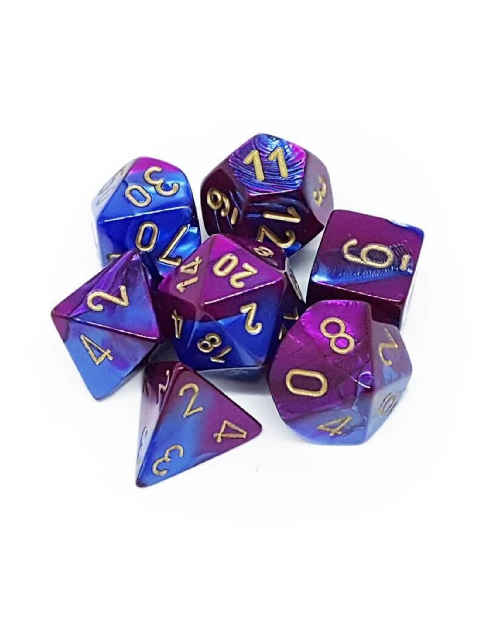 Chessex Gemini 2: Poly Blue Purple/Gold (7)