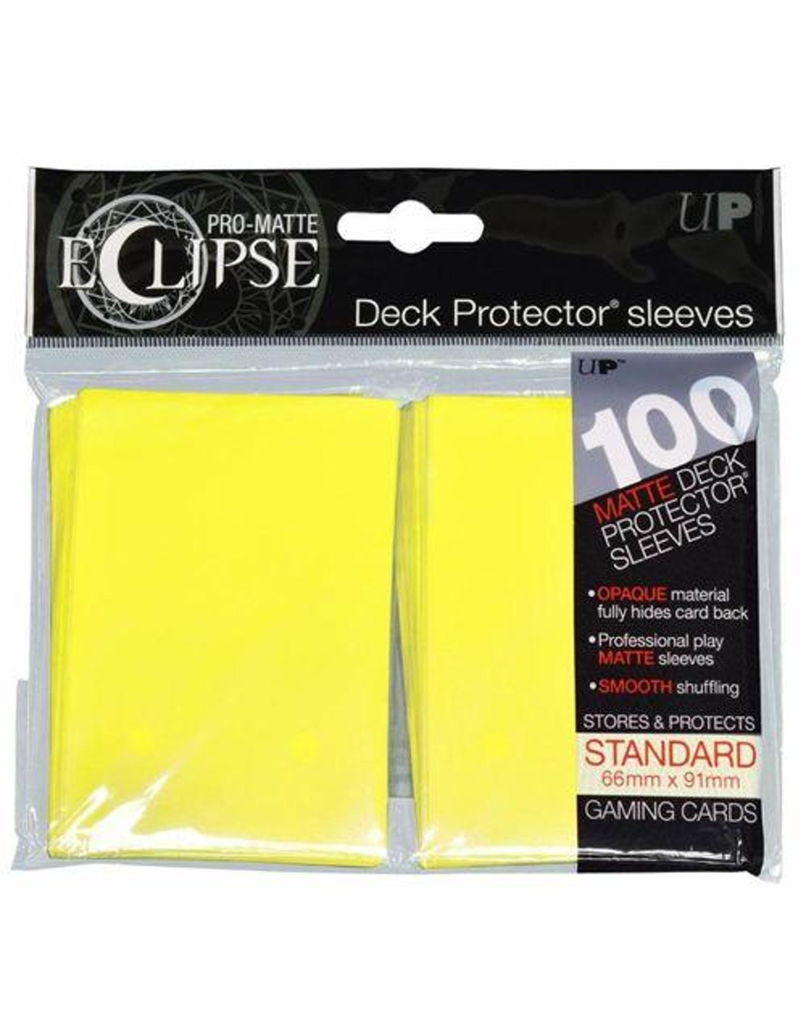 Ultra Pro Pro-Matte Eclipse 2.0 Standard Deck Protector Sleeves: Lemon Yellow (100)