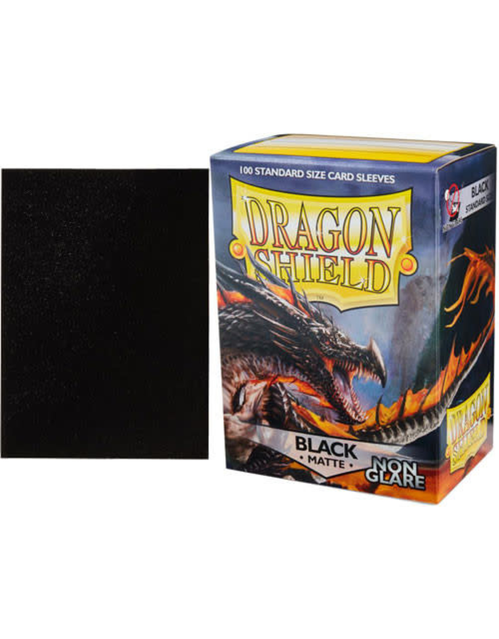 Dragon Shields: (100) Non Glare Matte Black