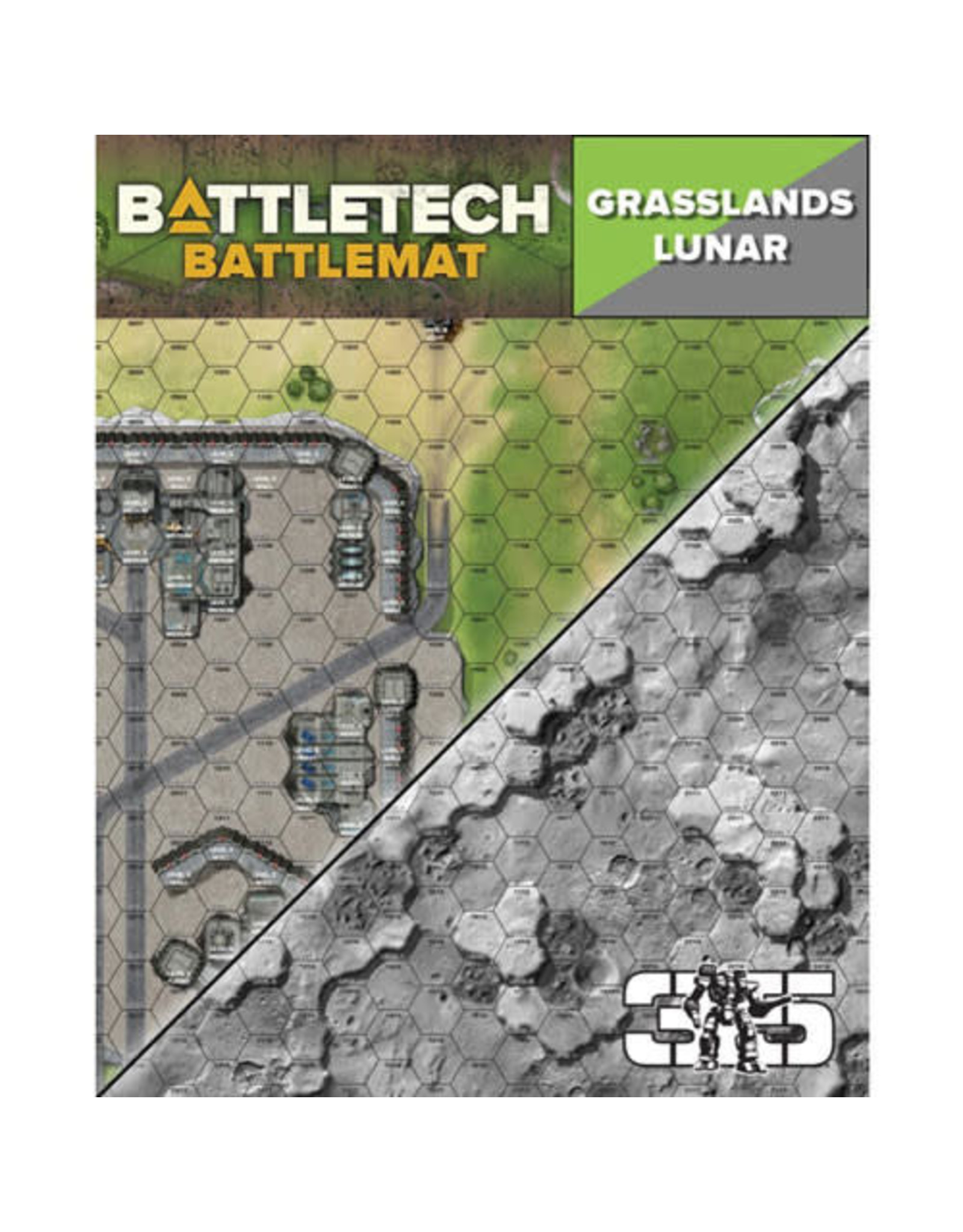 Catalyst Game Labs BattleTech: Battle Mat - Grasslands Lunar