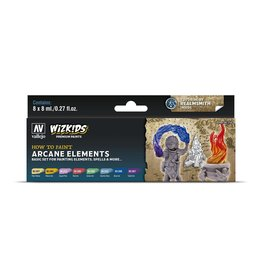 Vallejo Wizkids Vallejo Paint Set: Arcane Elements