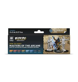Vallejo Wizkids Vallejo Paint Set: Masters of the Arcane